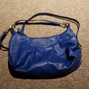 Coach blue leather bag authentic